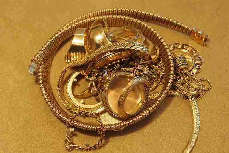 déchets en or