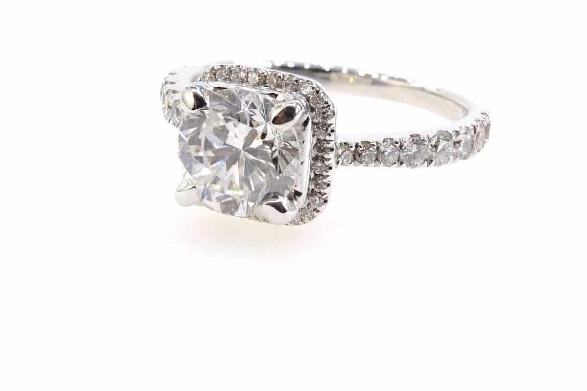 bagues d'occasion diamant central