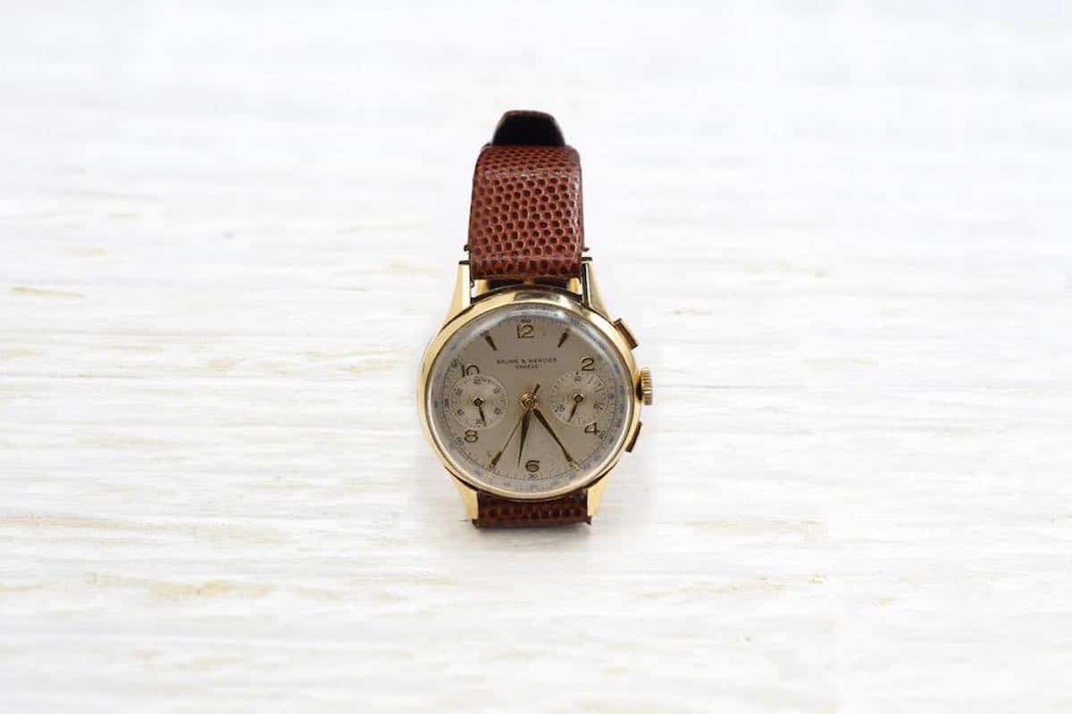 montre or