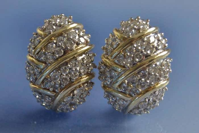 Boucles d'oreilles clips diamants en or 18K