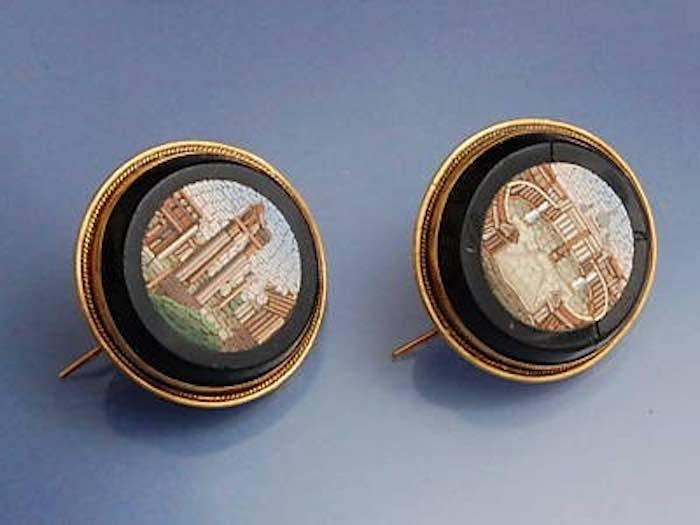 Boucles d'oreilles mosaïques italiennes
