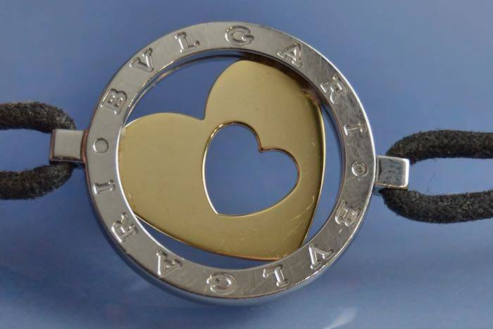 Bracelet Bulgari motif or et acier