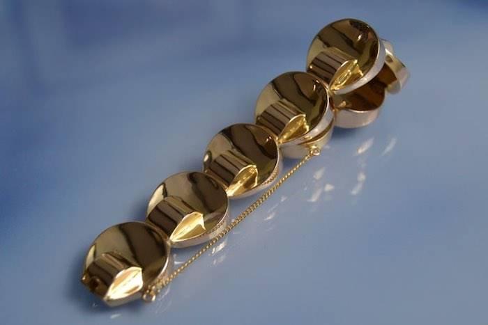 Bracelet Tank or jaune 18k