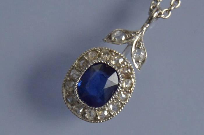 Collier saphir et diamants