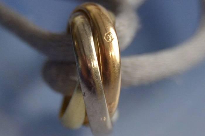 Bracelet Cartier motif trois ors