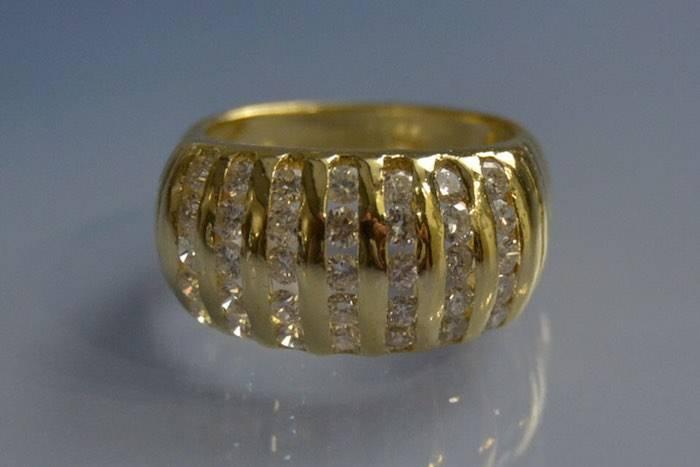 Bague diamants d'occasion d'époque récente