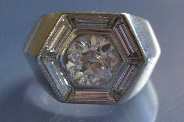 Bague 1930 diamants platine