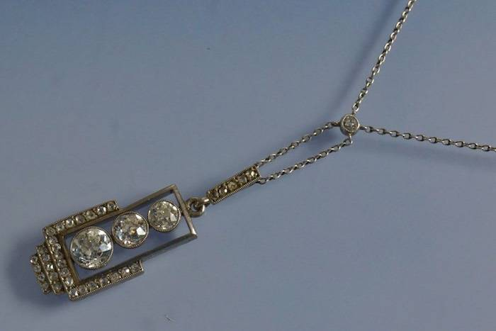 Collier ancien 1910 diamants