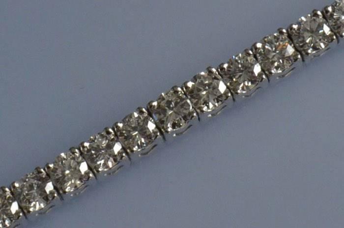 Bracelet or blanc et diamants taille moderne