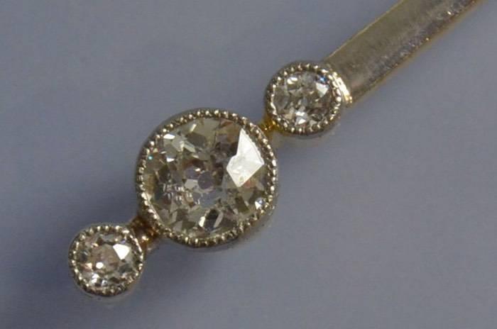 Collier et pendentif or et diamants 1930