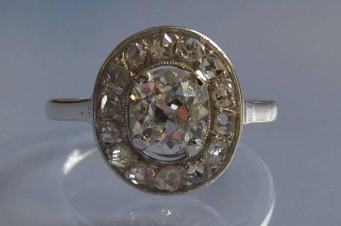 Bague d'occasion diamants anciens