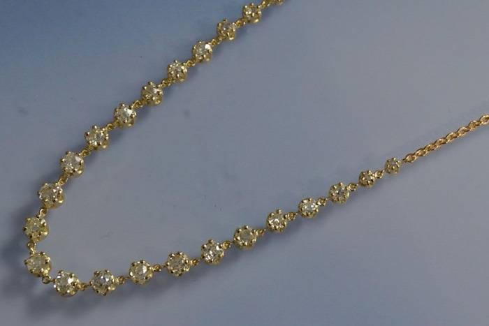 Collier rivière diamants Art Déco