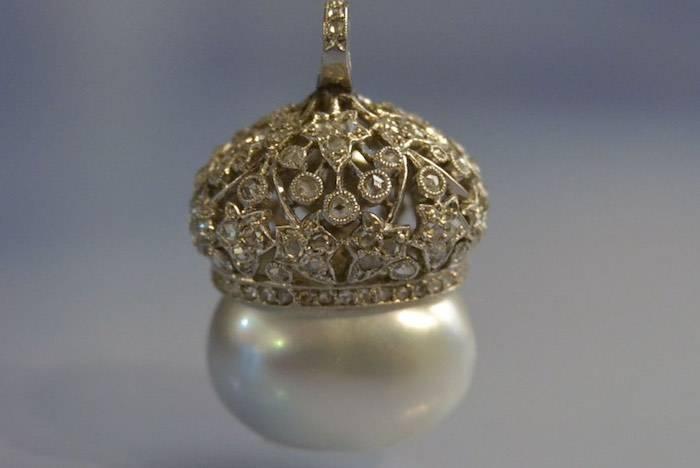 Pendentif perles de culture Art Déco