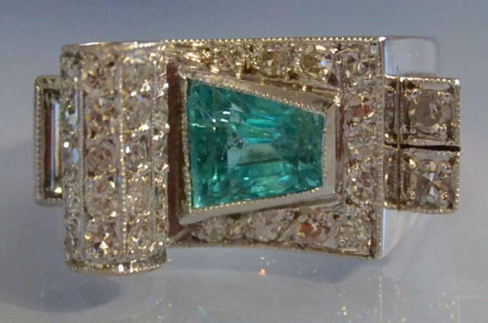 Bague ancienne ermaude et diamants