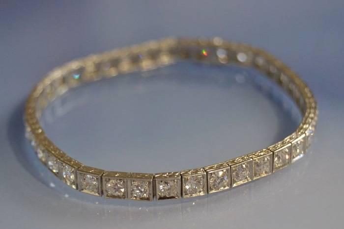 Ligne de diamants Art Déco