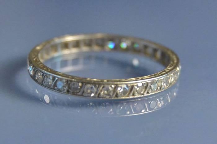 Alliance platine diamants