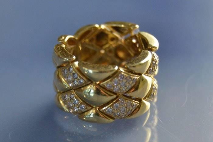 Bagues d'occasion or jaune et diamants