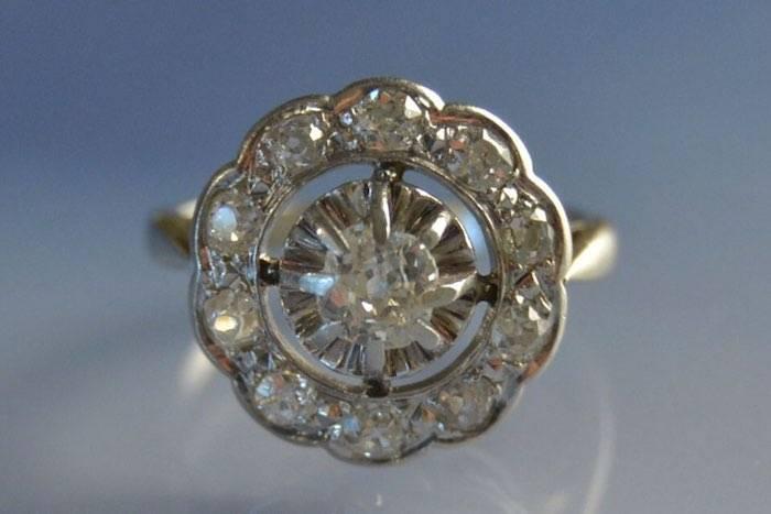 Bijoux d'occasion, bague diamants
