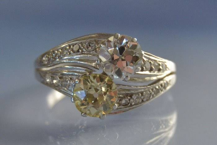 """Bague """"toi et moi"""" diamants"""