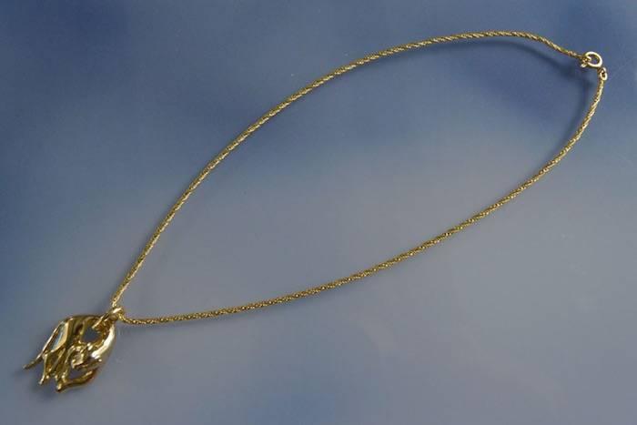 Collier panthère en or