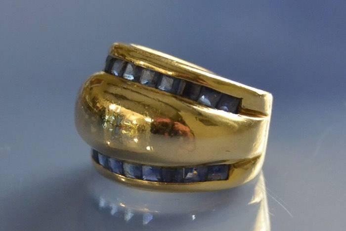 Bijoux anciens, saphirs diamants