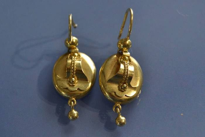 Boucles d'oreilles Napoléon III or jaune 18K