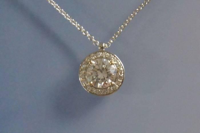 Collier diamants en or