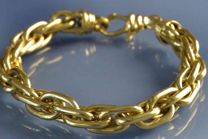 Bracelet ancien maille en or 18k