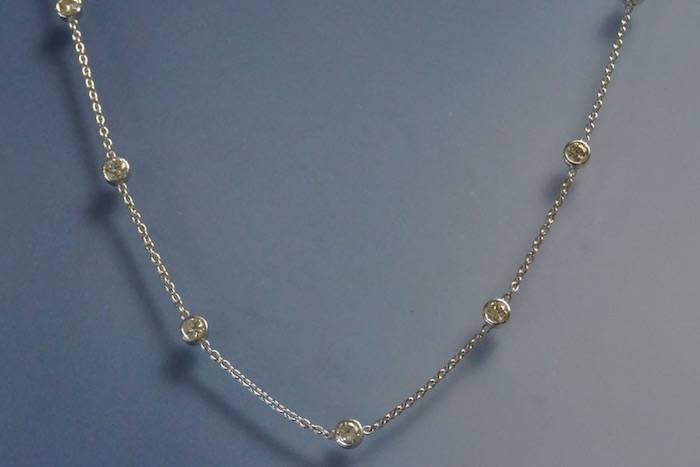 Collier 16 diamants en rivière