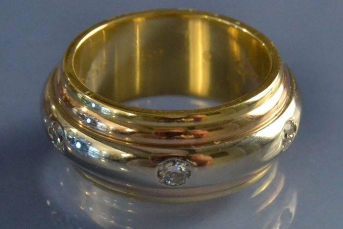 Allince 3 ors et diamants de Cartier