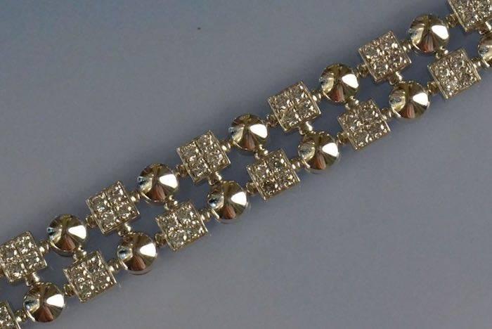 Bracelet diamants signé Bulgari