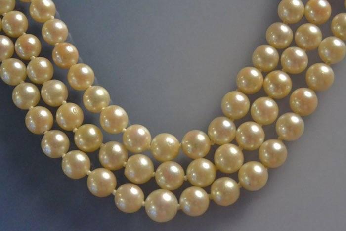 Collier 3 rangs perles de culture
