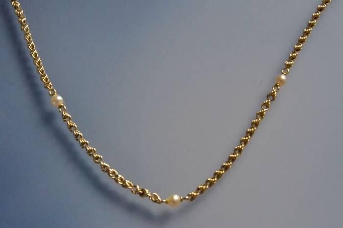 Collier 1900 or et perles