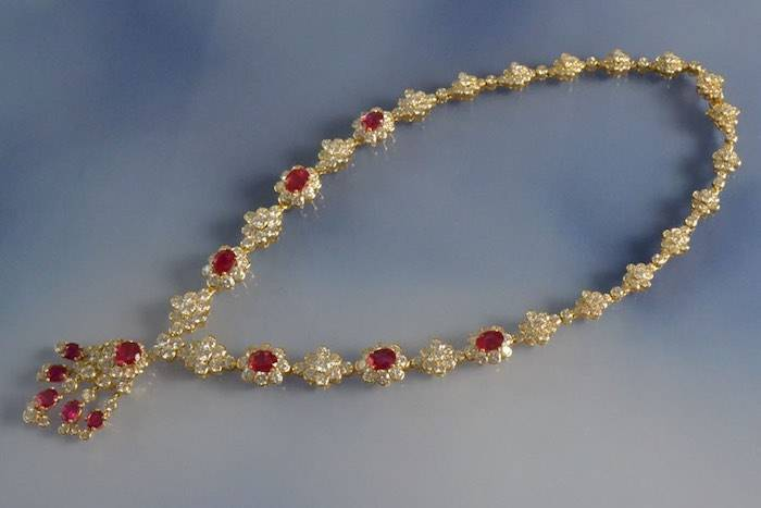 Collier rubis et diamants