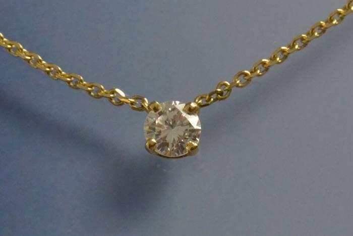 Collier solitaire diamant