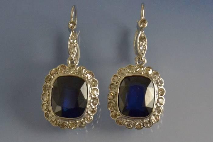 Dormeuses 1930 saphirs et diamants