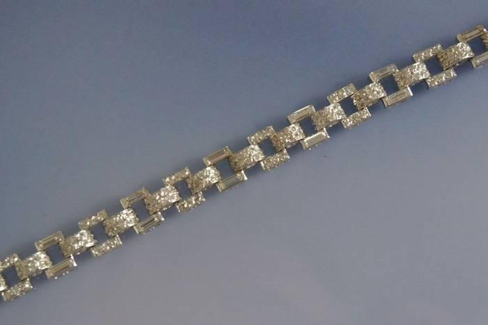 Bracelet ancien art déco diamants