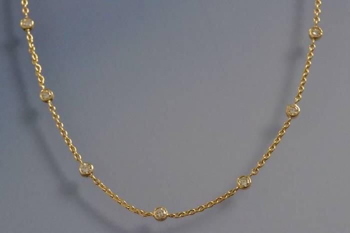 Collier diamants sertis clos