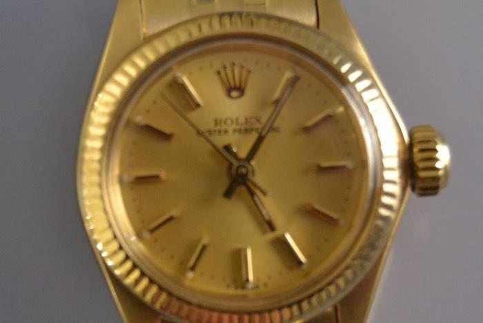Montre mécanique Rolex Lady or jaune