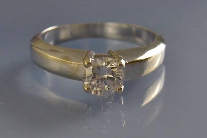 Solitaire diamant 0.63 ct