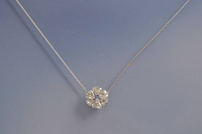 Collier et pendentif diamants