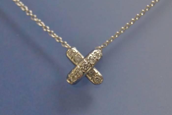 Collier Tiffany avec motif lien diamant