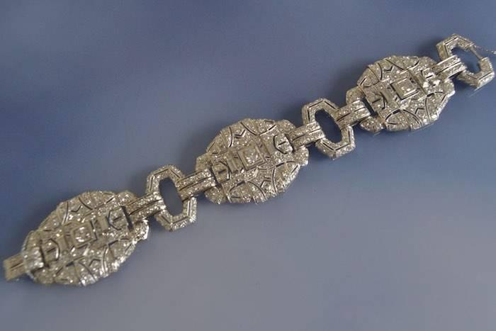 Bracelet art déco diamants