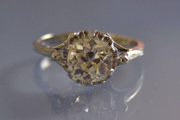 Solitaire Art déco diamants