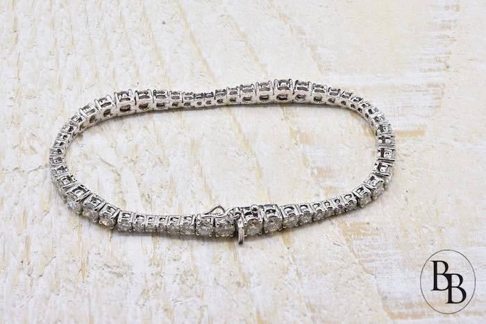 Bracelet ligne diamant