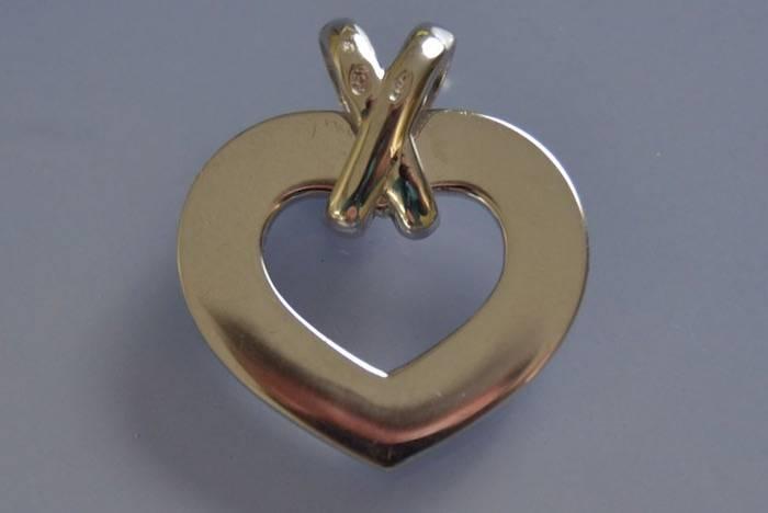 Pendentif coeur lien