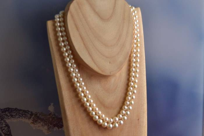 Collier ancien deux rangs de perles