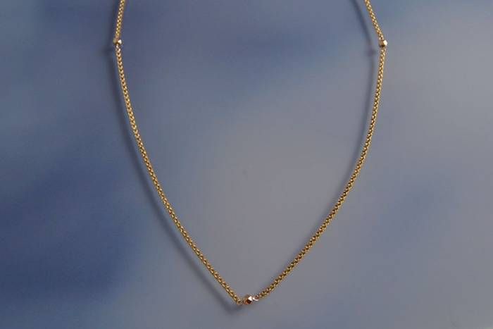Collier maille or rose d'occasion