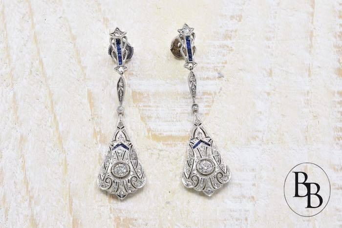 Boucles d'oreilles authentiques Art Deco