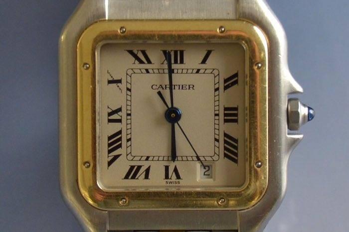 Montre Cartier Panthere or et acier